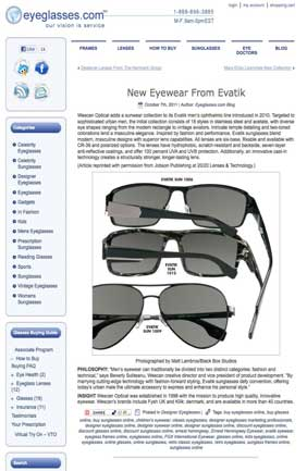 Eyeglasses.com Oct 2011